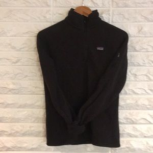 Patagonia better sweater 1/4 zip pullover black